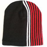 Cap / sombrero de encargo raya sombrero caliente del invierno Sombrero Beanie hombres y mujeres casquillo hecho punto