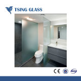 4-15mm verre sablé acide en verre dépoli pour salle de douche en verre gravé/Office/bâtiment porte le verre