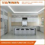2018 Aisen Design moderne en bois vernis armoires de cuisine en forme de U modulaire