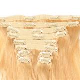 人間の毛髪の拡張7PCS/Set 8PCS/Set 16 18の20の22の24インチのクリップは毛の拡張カラーを販売で紫色着色した
