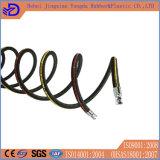Boyau en caoutchouc hydraulique tressé à haute pression de fil d'acier d'EPDM
