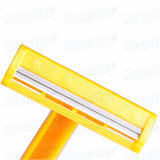 Gelbe Farben-Mann-Form-wegwerfbares Rasiermesser