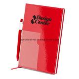 Carnet de couverture stratifié en PVC doublé de 80 pages avec stylos et marque-pages