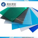 Panneau de toit en polycarbonate en plastique double mur pour auvent