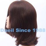 Parrucca media dei capelli con la parte superiore di Sillk per le donne