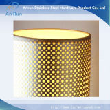 Strato perforato di alluminio per la fabbricazione del paralume