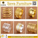 Laser-Schnitt-Basisrecheneinheits-Goldpapierserviette-Ringe für Hochzeiten