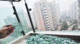 بناية تجاريّة يعزل [فرملسّ] [كرتين ولّ] زجاجيّة مع [سغس] ([جينبو])
