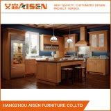 Gabinete de cozinha americano da madeira contínua do carvalho da qualidade da parte alta