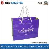 Eleganter purpurroter Papierbeutel für das Einkaufen