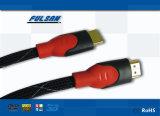 S-Vídeo de la alta calidad al cable de HDMI con el acoplamiento de nylon