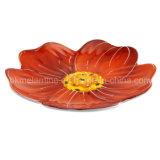 Plaque de desserts en forme de fleur de mélamine