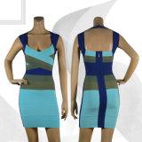 Fall-Stutzen-Art, die farbiges Verband-Partei-Kleid ordnet