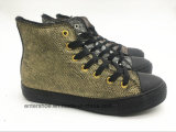 Middle Cut Rubber Shoes (ET-YH160139W)金カラー偶然様式の女性