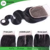 prolonge brésilienne de cheveux humains de Remy de cheveu de Vierge de vente en gros de la pente 7A