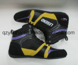 カスタム軽量の適用範囲が広いスエードの革はボクシング・シューズをひもで締める