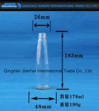 Heiße verkaufende transparente Glasflasche für Milch und Saft