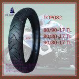 Schlauchloser Motorrad-Gummireifen 80/90-17tl, 80/80-17tl, 90/80-17tl des ISO-Nylon-6pr