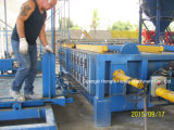 軽量のコンクリートの壁は半自動生産ラインにパネルをはめる