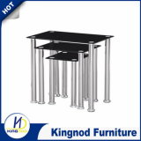 UK Hot Selling 3 PCS Nest Glass Coffee Table Sets