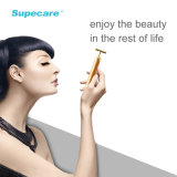 24k Golden Virbaration Face Lift et serrage Massage Beauty Roller avec magnétique Wy-1006