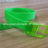 Vert Courroie souple en caoutchouc et plastique de la courroie de boucle