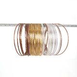 금 & 로즈 금 & 은은 3개의 색깔 인도 팔찌에 의하여 놓인 유행 간단한 36PCS/Set를 도금했다