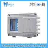 Compteur de débit ultrasonique fixe argenté d'acier du carbone (débitmètre)