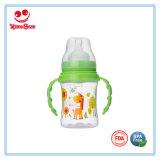 8つのOz幅首のハンドルが付いているプラスチック赤ん坊のミルクびん