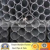 Forme ronde de section et pipe en acier galvanisée par technique laminée à chaud