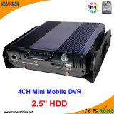 Автомобиль Автобус 4-канальный автономный D1 видеонаблюдения сети Мобильный DVR