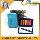 Note adhésive colorée promotionnels personnalisés avec le stylo pour cadeau (NB-008)