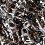 Clip malléable de câble métallique de Galv DIN 741