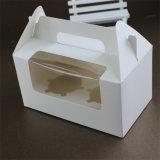 주문 호화스러운 형식 Foldable 큰 종이 사각 생일 케이크 상자