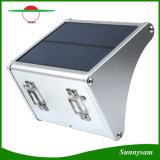 옥외 점화 정원 빛 24 LEDs 450 루멘 마이크로파 레이다 태양 센서 벽 램프