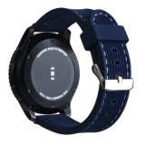 Más Vendidos reloj de pulsera de color azul marino de 22 mm de sustitución de la banda de caucho de silicona para S3