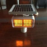 Luz Intermitente Solar do Testemunho de sinal de trânsito o LED âmbar