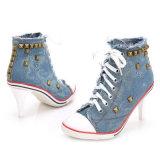Ботинки партии платья повелительниц конструкции ботинок высокой пятки роскошные