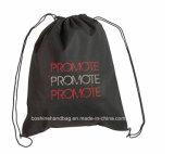 Les sacs de cordon noirs bon marché en gros promotionnels les plus neufs de Polyster
