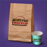 Seitliche Stützblech-Aluminiumfolie-gezeichnete Packpapier-Kaffee-Paket-Beutel