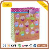 Bolsas de papel anaranjadas del regalo de los recuerdos del alimento del departamento de la torta del cumpleaños