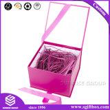 Caixa de presente do caso de empacotamento do organizador do produto com punho de seda