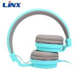 Projeto macio super do Headband ajustável e auscultadores portáteis dos fones de ouvido