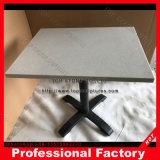 Tabella superiore di marmo bianca di rettangolo con il blocco per grafici dell'acciaio inossidabile