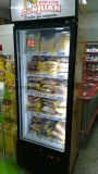 LED 닫집을%s 가진 단 하나 유리제 아이스크림 강직한 전시 냉장고