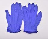 Gant protecteur de main remplaçable libre pourprée de poudre de 9 de pouce de nitriles gants d'examen médical