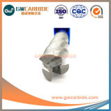 1.0X3X50 Aluminuimの炭化タングステン3のフルートの平らな端製造所