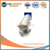 Aluminuimのための3つのフルートの炭化タングステンの端製造所