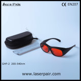 Nuevos anteojos protectores de las gafas de seguridad de laser de la llegada O.D7+ @200-540nm para el laser verde de Laserpair