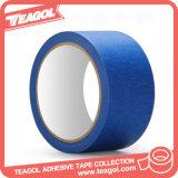 Anhaftendes Krepp-Papier-blaues selbsthaftendes Kreppband, farbiges Band
